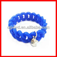 Newest Cheap Custom Silicone Bracelets Chain
