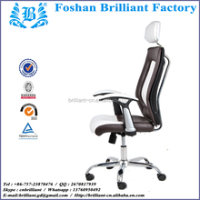 Dual Color Leather High Back Personal Computer Chair with Headrest BF-8103
