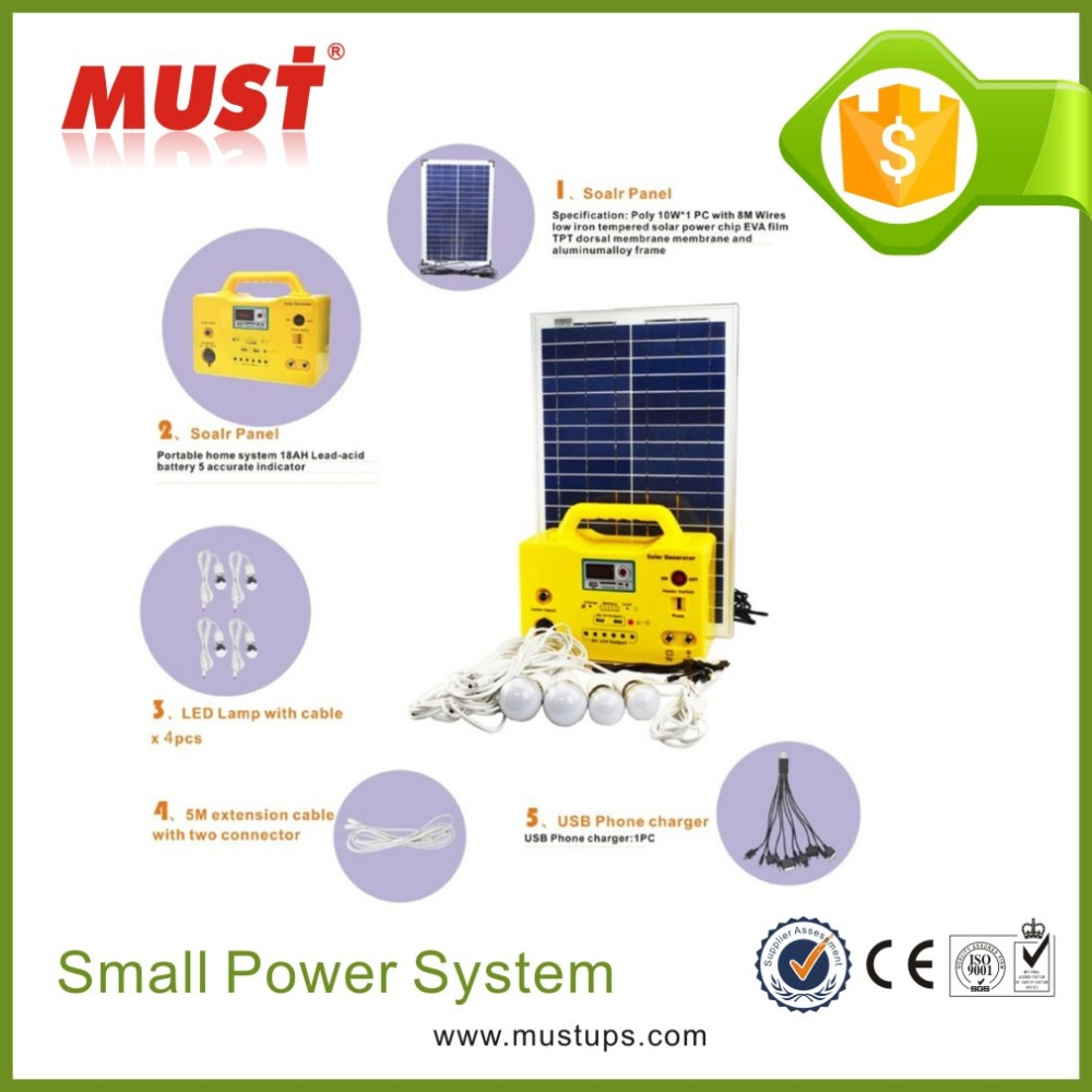 China Factory Provide 18V 20W Mini Home Solar Lighting <strong>Kit</strong> from Trade Assurance