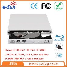 Supply 100% NewECD008-3BD usb 3.0 dvd writer external dvd writer lightscribe blu ray burner