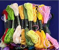 good quality embroidery thread similar DMC thread 447 colors cross stitch thread