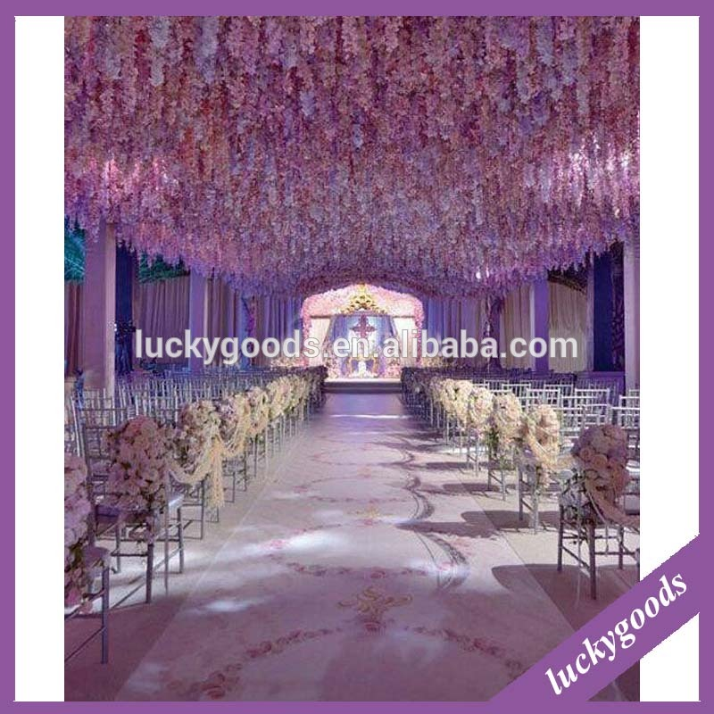 bulk purple wedding hanging flower for wedding party decoration