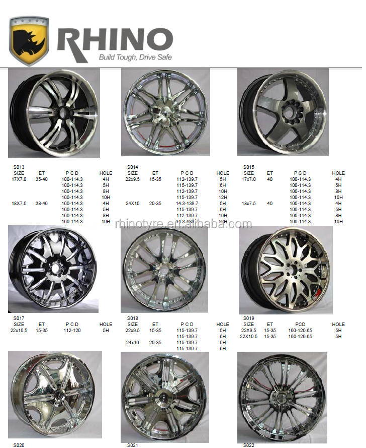 RHINO KING Brand alloy wheels for cars alloy wheel rim