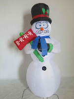 Funny inflatable christmas panic snowman/attractive eyes canton fair Snowman/2015 new shaking design for outdoor