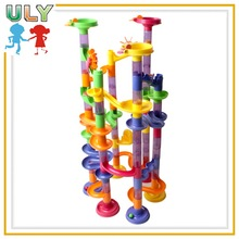 Educational toys self assembly plastic building block kid's building blocks marble race deluxe marble runs