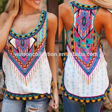 Trade assurance walson girl tank top ropa mujer print women apparel summer fashion dress wholesale clothes