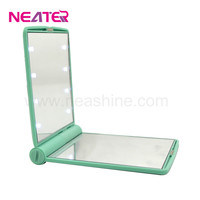 8 LED Light Cosmetic Make Up Folding Mirror