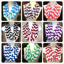 Top quality fashion new design hijab infinity chevron knitted silk scarf