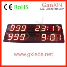 Countdown clok red high brightness indoor easily installed wall mounted mini digital clock for car