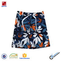 Children Kids Clothing Boys 100% Polyester Casual Sports Floral Printing Beach Shorts Half Pants Trousers