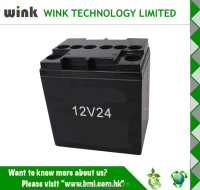 Wholesale ABS 12v 24ah oval Backup Battery Case for UPS