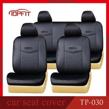 car seat cover factory customize black PVC leather with wellfit car seat cover for corolla/camry/axio/hilux seat cover TP-030