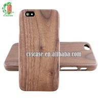 100% Natural walnut Wood Custom Design Cell Phone Case For Iphone 5.