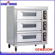 CE approved industrial electric kitchen pizza oven baked chicken wings oven french baguette bread making machine