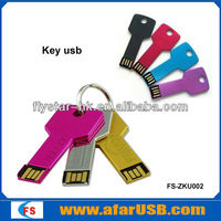 Novelty metal key shaped usb flash drive
