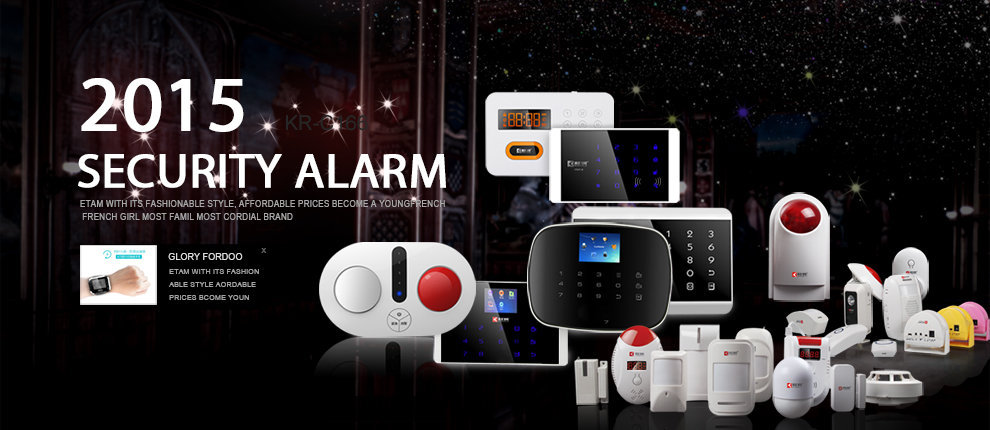 Touch 7 inch Color screen wireless wifi and gsm alarm system, android IOS wifi gsm alarm system(KR-K7)