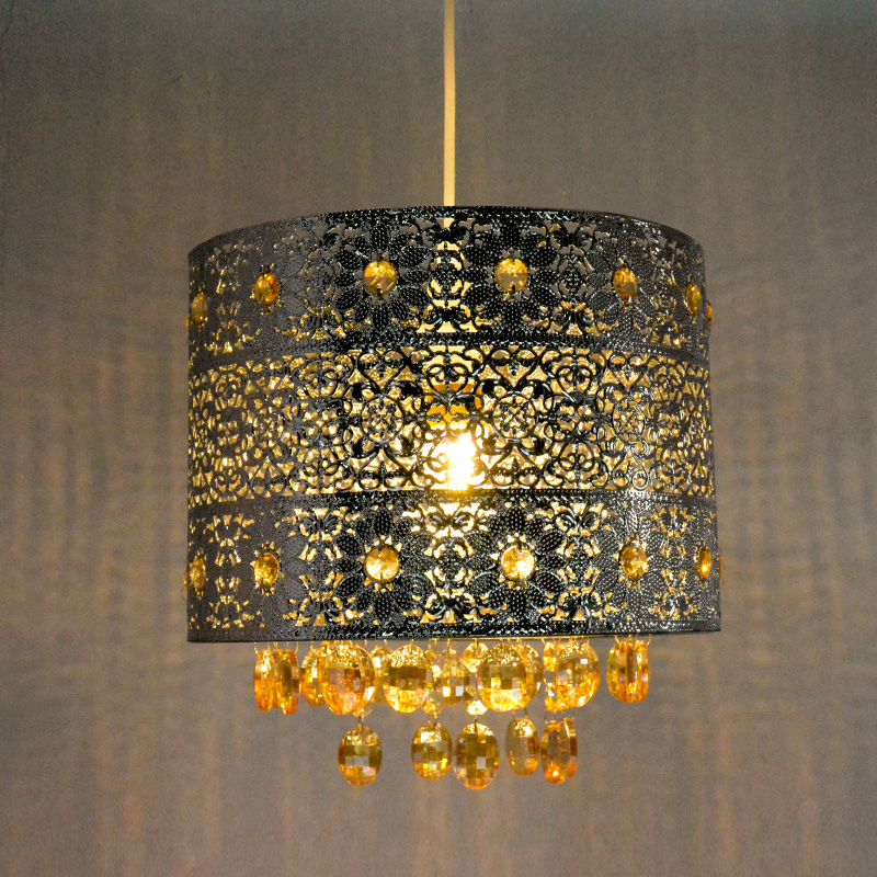 Contemporary indoor decorative laser cutting shade modern acrylic lamp pendant