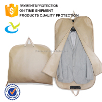 PP non woven fabric custom cheap disposable dust proof foldable garment suit cover