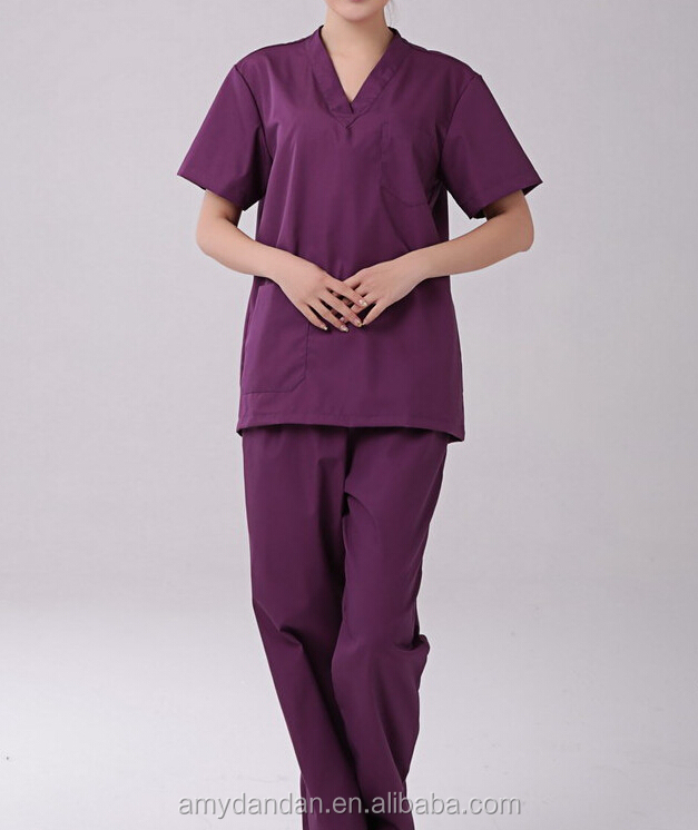New Style Medical Scrubs Wholesale/nursing uniform Medical Uniform Scrubs cheap/OEM scrub suits tops & pants manufacturer