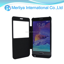 Extended Battery Power Bank Backup Leather Case For Samsung Galaxy Note 3 4 5