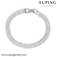 72378-xuping wholesale fashion high quality latest women luxury diamond bracelets designs