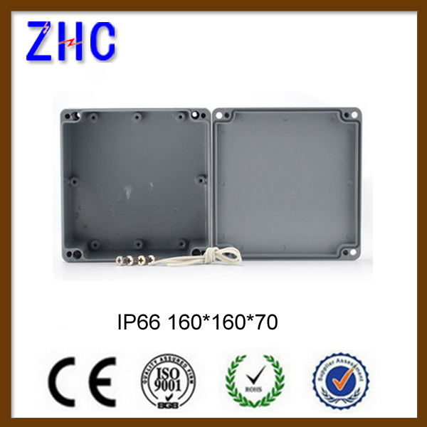Aluminum waterproof IP66 160*160*70 portable electronic enclosures