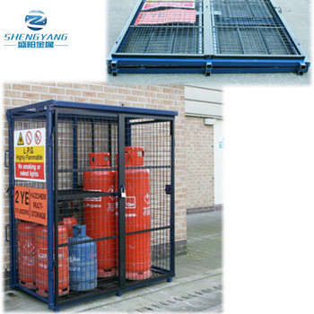 1700mm x 880mm x 1735mm gas cage fold up fold away cylinder bottle storage