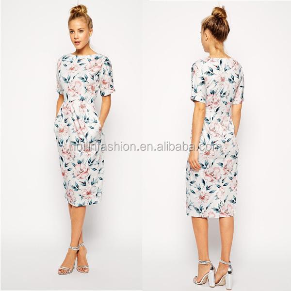 Платья лето ниже колена