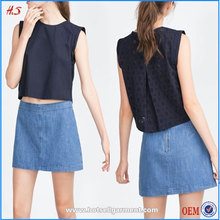 100% Cutton Ladies Tops Images Cutwork Detail Ladies Tops Latest Design Sexy & Elegant Latest Fashion Blouse Design Sleeveless