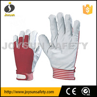 summer driving gloves with elastic fabric back and magic wrist