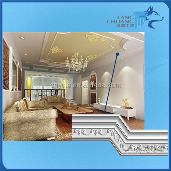 Elegant style interior building material plaster ceiling cornice mouldings