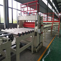 Automatic machine line for the production of plasterboard