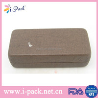 Good quality silhouette optical glass case metal hard leather optical eye glasses case/spectacle case/eyewear case