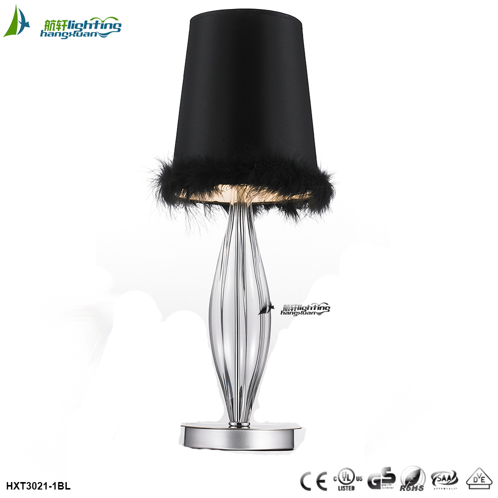 Black murano chandelier lighting fixture modern table lamp HXT3021-1BL