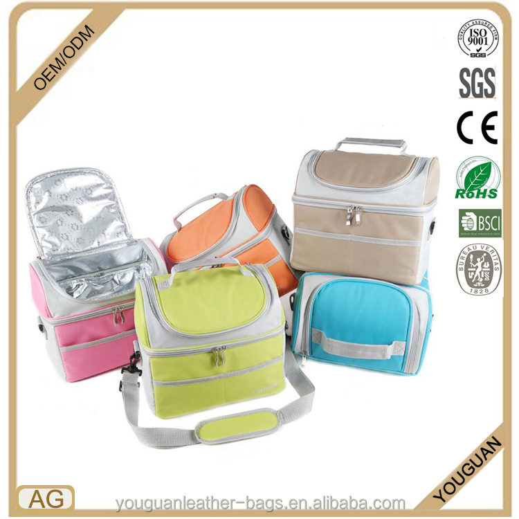 2016 Eco Friendly Customized Logo Branded Promotional Heat Protection Insulate Lunch Cooler Bag