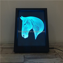 Hot laser cutting acrylic 3D frame led light 3D display photo frame