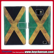 brazil flag leather flip case for samsung i9100 galaxy s