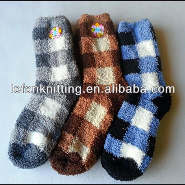 2014 LeFan new design warm and thick men fuzzy week sock men manufacture From Zhuji datang
