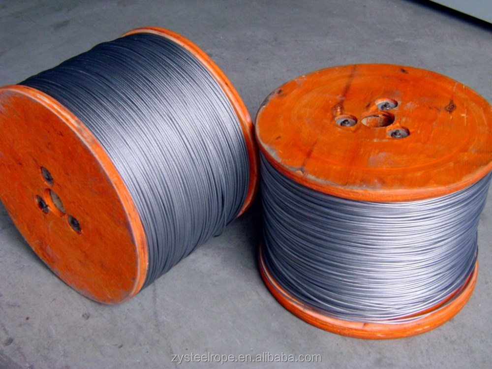 PVC Coated galvanized steel wire rope 6*7+IWRC,7*7,6*19+FC, Provide free sample