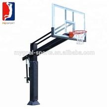 "Basketball Hoop 72"" Clear View Tempered Glass Backboard, Height Adjustable for Children & Adults, Spring Heavy Duty Flex Rim"