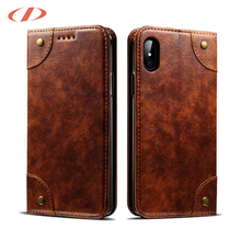 Premium Quality CrazyHorse Pattern PU Leather Wallet for iphone x case 360 cover