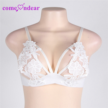 In Stock New Fashion Wholesale White Hollow Out High Quality Lace Cup Bra