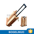 in stock 82*106*140(183)cm professional wooden sketch box easel with hand lever and omni-directional wheel