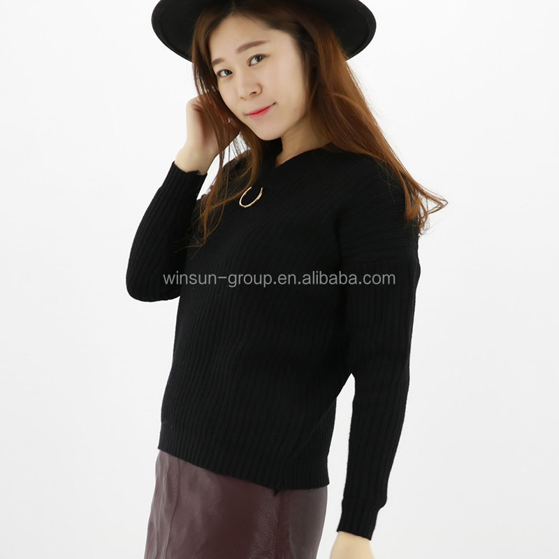 China Supplier Pullover Woman V neck Sweater