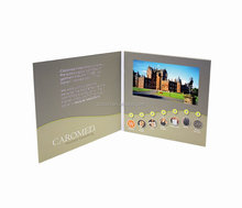 Video Book/ LCD Video Greeting Card /Video Brochure