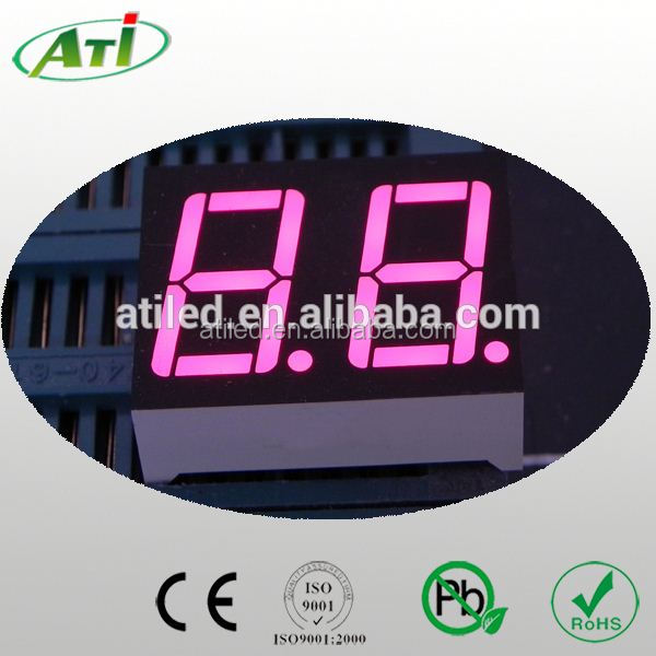 0.28 inch two digits 7 segment led display full color,custom induction cooker led display