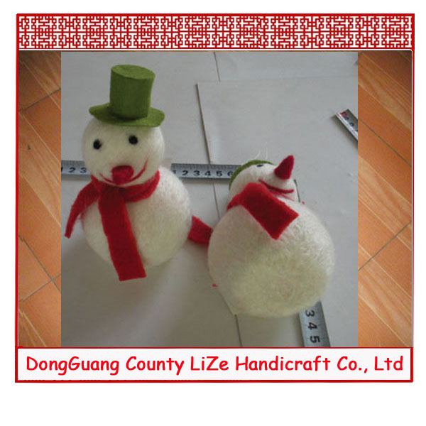 fabric christmas snowman decorations