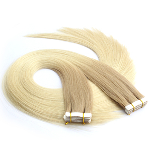 Wholesale virgin human brazilian straight ombre tape hair extensions