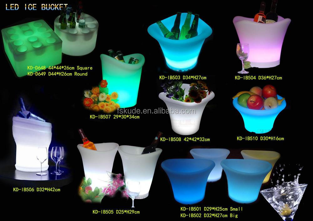 16 colors changing plastic ice buckets for beer