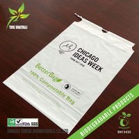 biodegradable plastic drawstring bags